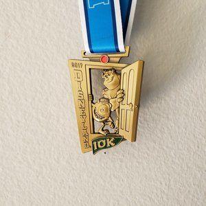 Disneyland 2017 Monsters Inc Medal & Pin